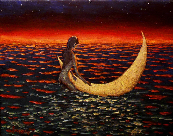 She Plucked The Moon From The Sky To Use As Her Boat